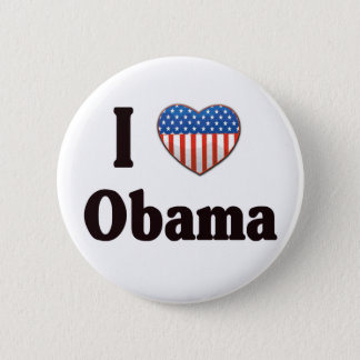I Love Obama button