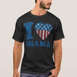 i Love Obama Classic Stars - Stripes I Heart Shirt