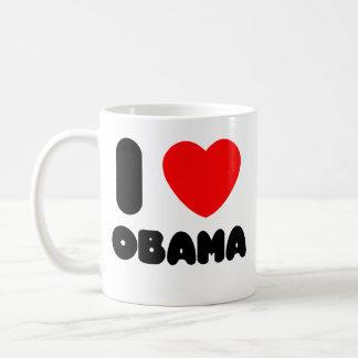 i love obama classic white coffee mug