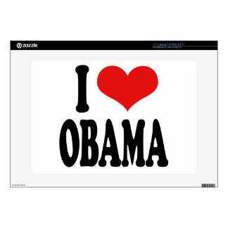 "I Love Obama Decals For 15"" Laptops"
