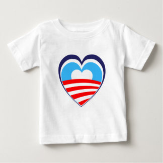 I love Obama - Elect Obama Now Baby T-Shirt