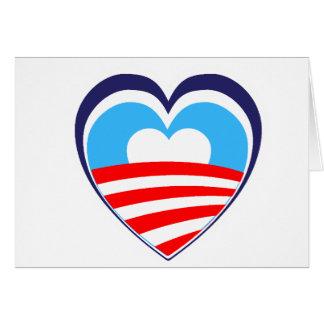 I love Obama - Elect Obama Now Card