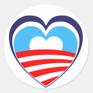 I love Obama - Elect Obama Now Classic Round Sticker