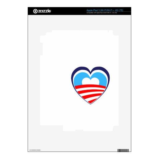 I love Obama - Elect Obama Now iPad 3 Decals