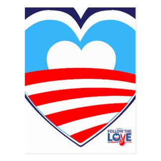 I love Obama - Elect Obama Now Postcard