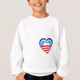 I love Obama - Elect Obama Now Sweatshirt