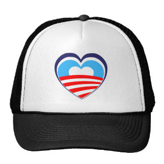 I love Obama - Elect Obama Now Trucker Hat
