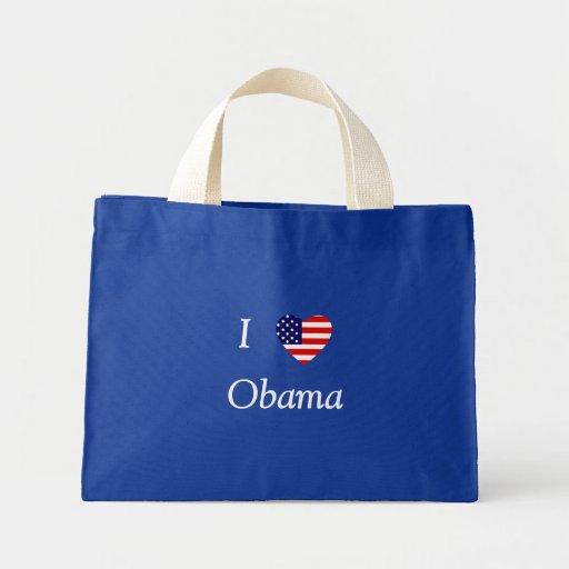 I Love Obama (flag heart) Canvas Bag
