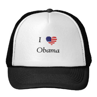 I Love Obama (flag heart) Trucker Hat