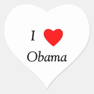 I Love Obama Heart Sticker