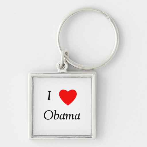 I Love Obama Key Chain