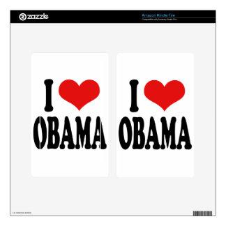 I Love Obama Kindle Fire Decal
