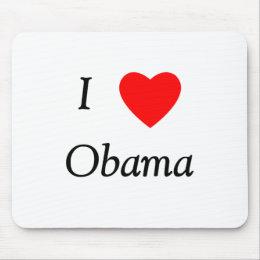 I Love Obama Mouse Pad