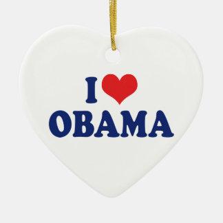 I Love Obama Ornament