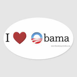 I love Obama Oval Sticker