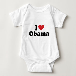 I LOVE OBAMA - -.png Baby Bodysuit