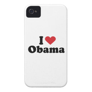 I LOVE OBAMA - -.png iPhone 4 Case-Mate Cases