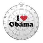 I LOVE OBAMA - -.png Dart Board