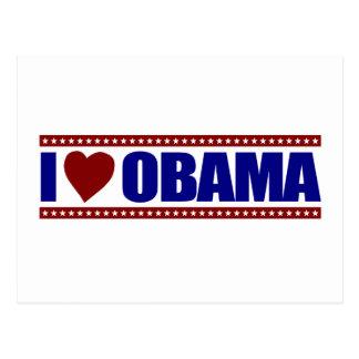 I Love Obama Postcard