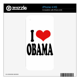 I Love Obama Decal For The iPhone 4