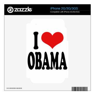 I Love Obama iPhone 3GS Decals