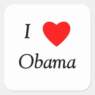 I Love Obama Square Sticker