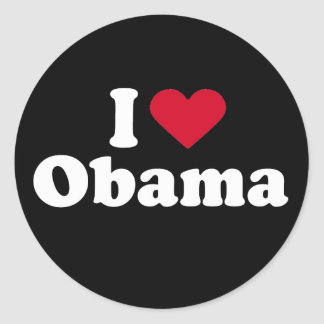 I Love Obama T-shirt Stickers