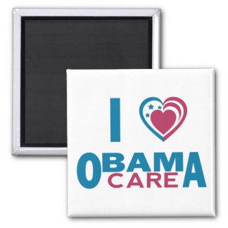 I Love ObamaCare 2 Inch Square Magnet