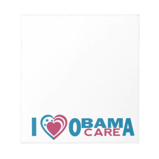 I Love ObamaCare Notepad