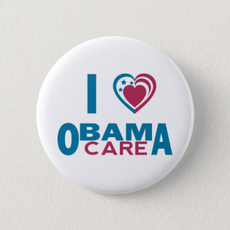 I Love ObamaCare Pinback Button
