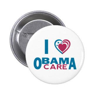 I Love ObamaCare Pinback Button