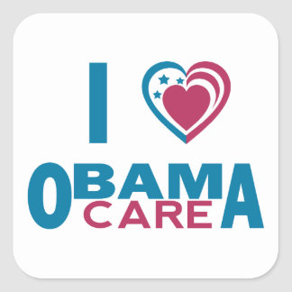 I Love ObamaCare Square Sticker