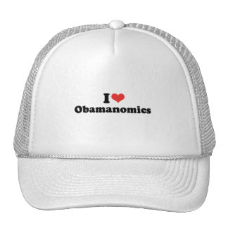 I LOVE OBAMANOMICS - .png Hat