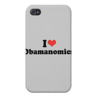 I LOVE OBAMANOMICS - .png Case For iPhone 4