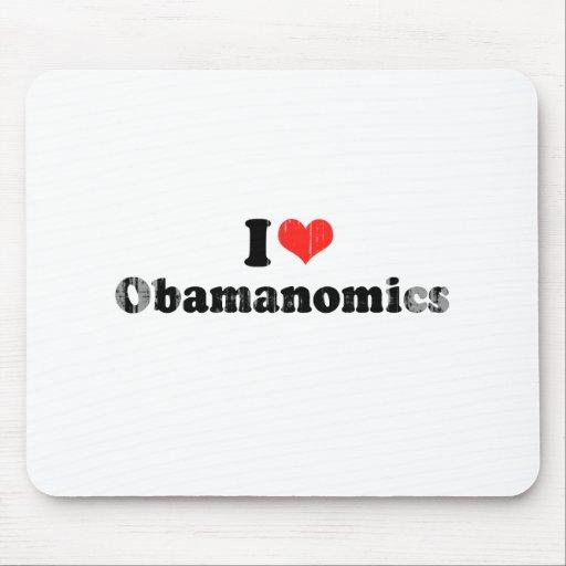 I LOVE OBAMANOMICS.png Mouse Pad
