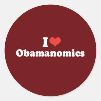 I LOVE OBAMANOMICS - .png Stickers