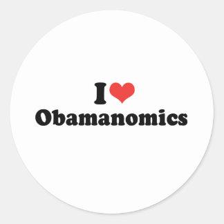 I LOVE OBAMANOMICS - .png Sticker
