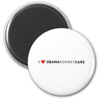 I Love ObamaRomneyCare 2 Inch Round Magnet