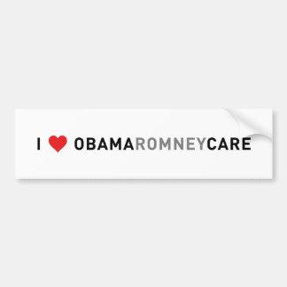 I Love ObamaRomneyCare Bumper Sticker