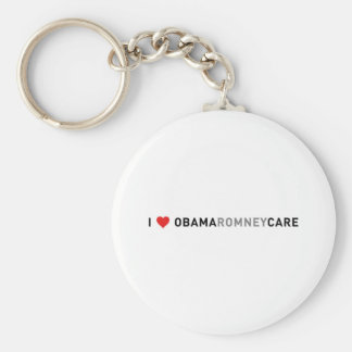 I Love ObamaRomneyCare Keychain