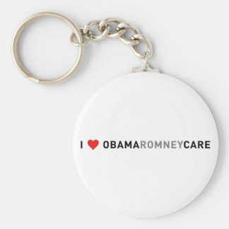 I Love ObamaRomneyCare Keychains