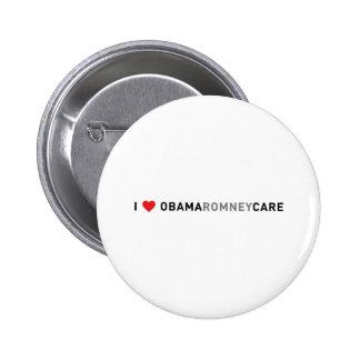 I Love ObamaRomneyCare Pinback Buttons