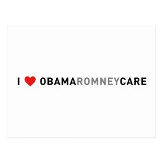 I Love ObamaRomneyCare Postcard