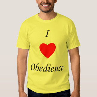I Love Obedience T-shirt