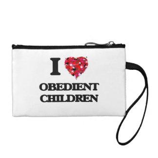 I Love Obedient Children Change Purses