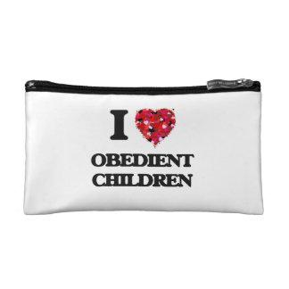 I Love Obedient Children Makeup Bags
