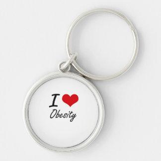 I Love Obesity Keychain