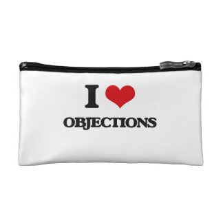 I Love Objections Cosmetic Bags