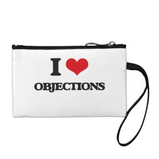 I Love Objections Coin Purses