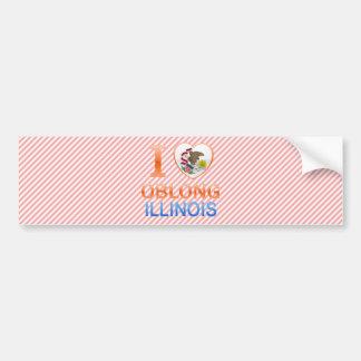 I Love Oblong, IL Car Bumper Sticker